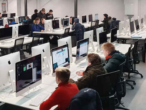 Computer class at the university